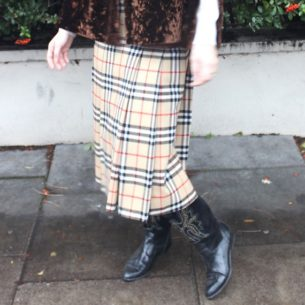 Real Burberry Nova Check Skirt