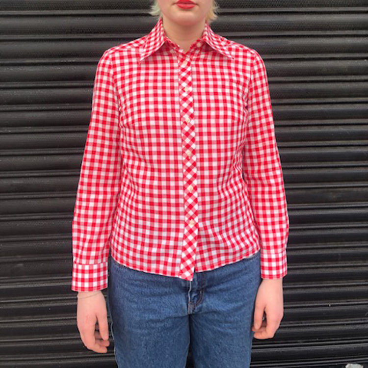 Red And White Gingham Shirt