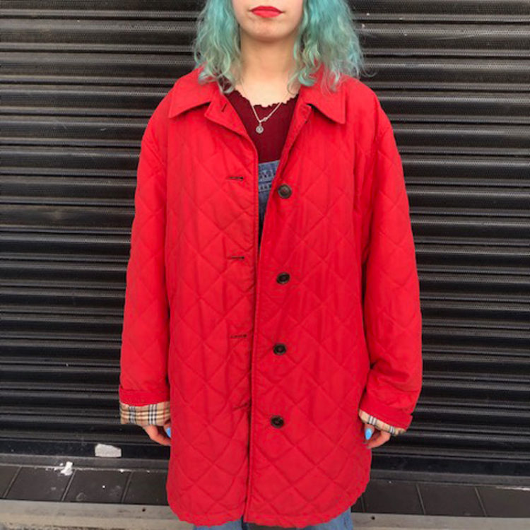 Red Burberry London Coat