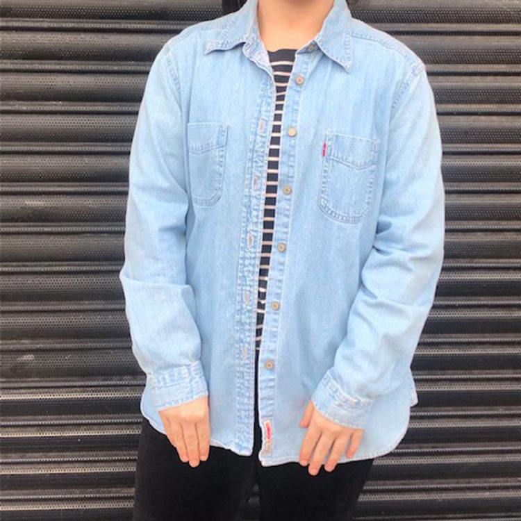 Red Tab Light Blue Denim Shirt