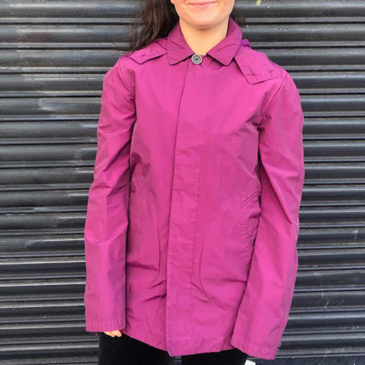 Vintage Burberry Waterproof Purple Jacket