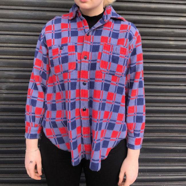 Vintage Champion Fleece Checkered Shirt