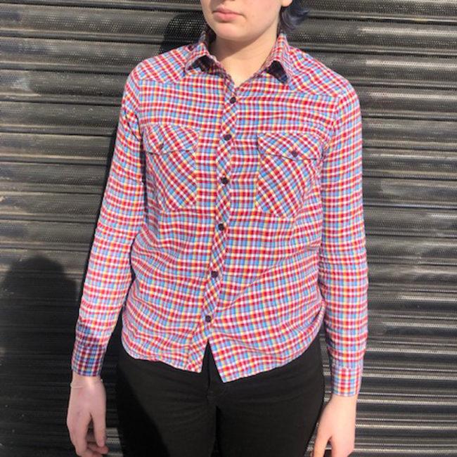 Vintage Multicolored Gingham Shirt