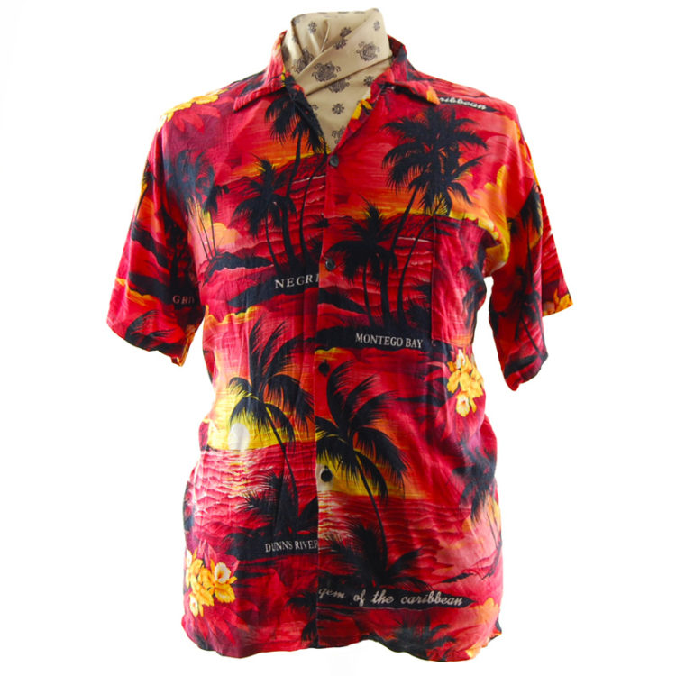 Red Sun-Set Hawaiian Shirt