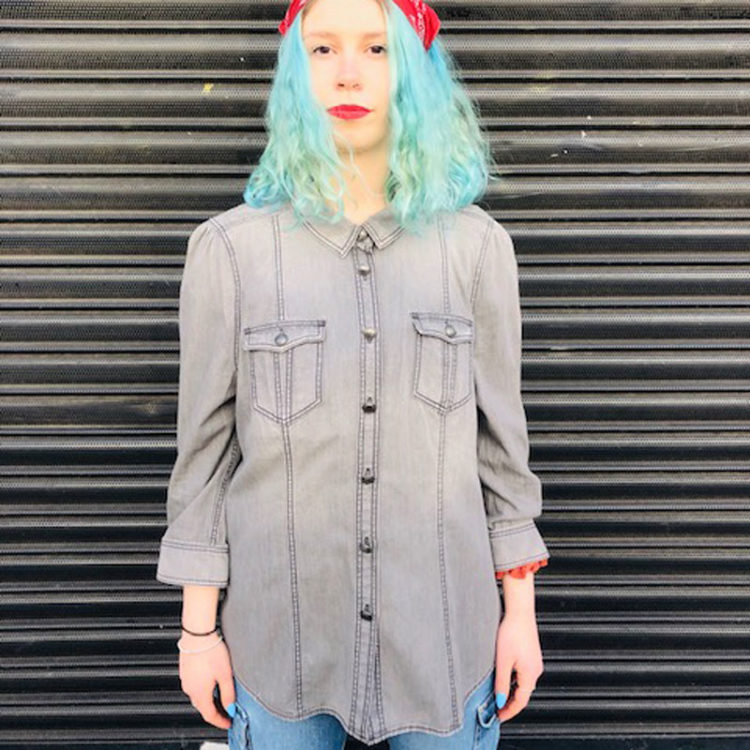 Womens Burberry Grey Denim Shirt