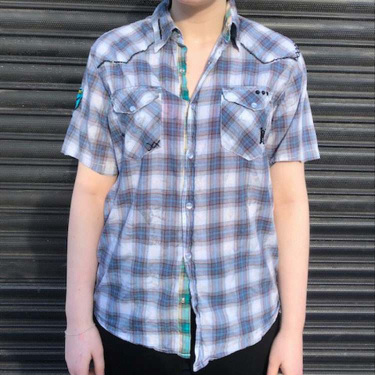 Womens Ed Hardy Plaid Shirt