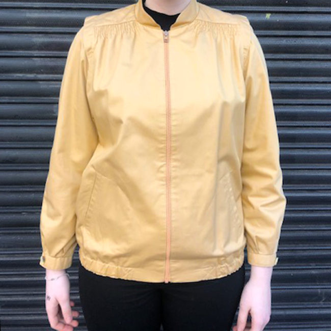 Womens Gold Cream Coloured Jacket