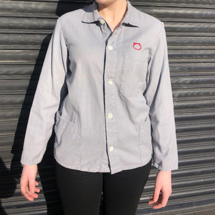 Womens Grey Cotton Shirt
