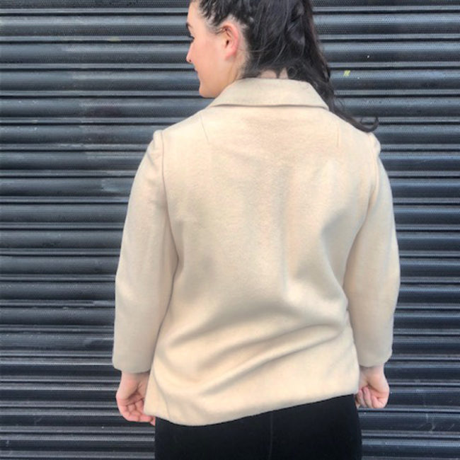back of 60s Pure Cashmere Cream Jacket