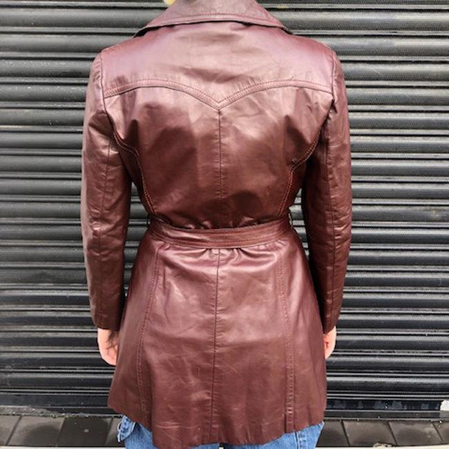 back of 70s Genuine Leather Jacket
