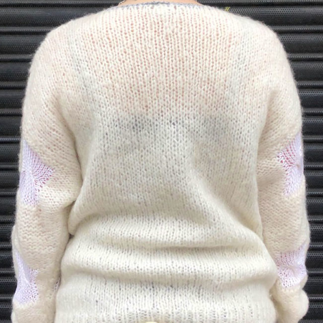 back of 80s Mohair And Wool Sweater