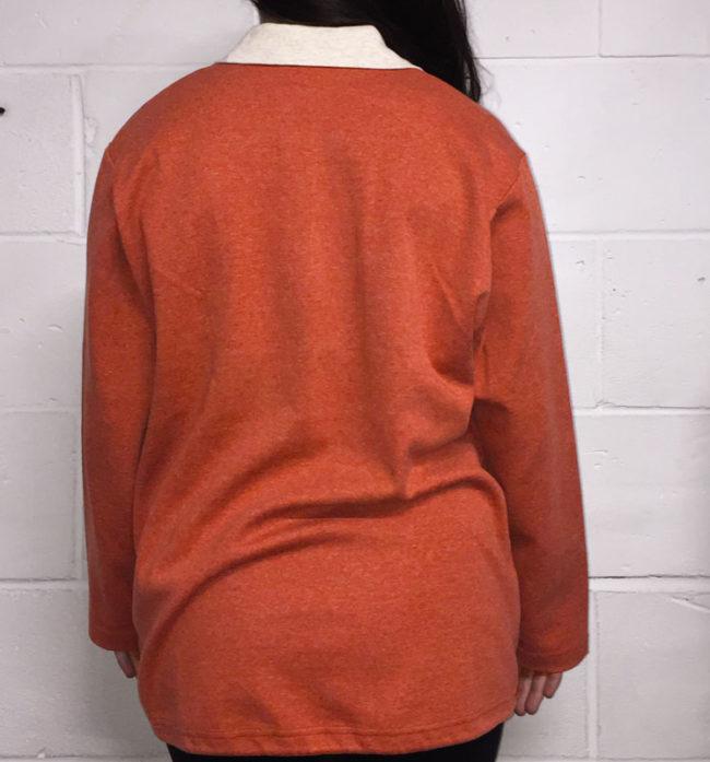 back of 80s Vintage Knit Jacket