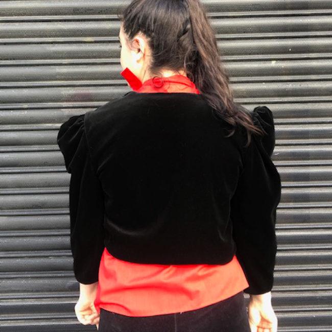 back of 80s Velvet Evening Jacket