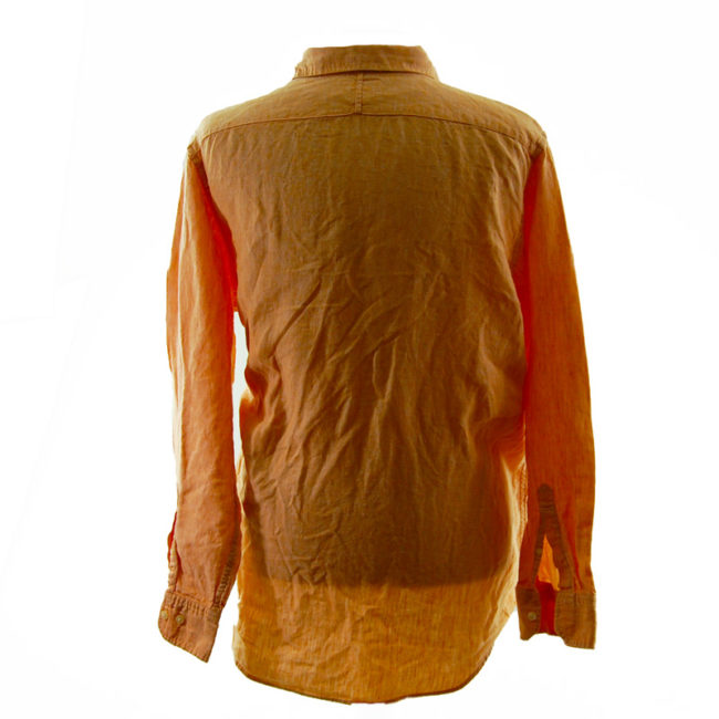 back of Banana Republic Orange Shirt