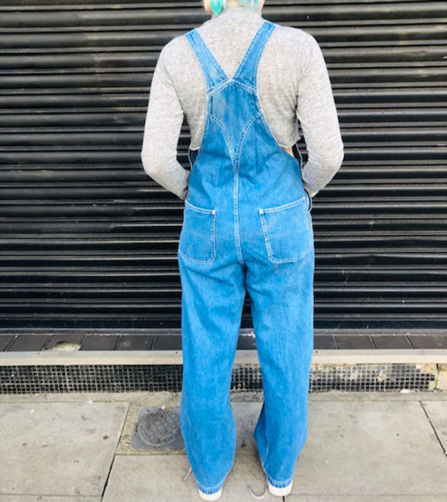 back of Denim Tommy Hilfiger Dungarees