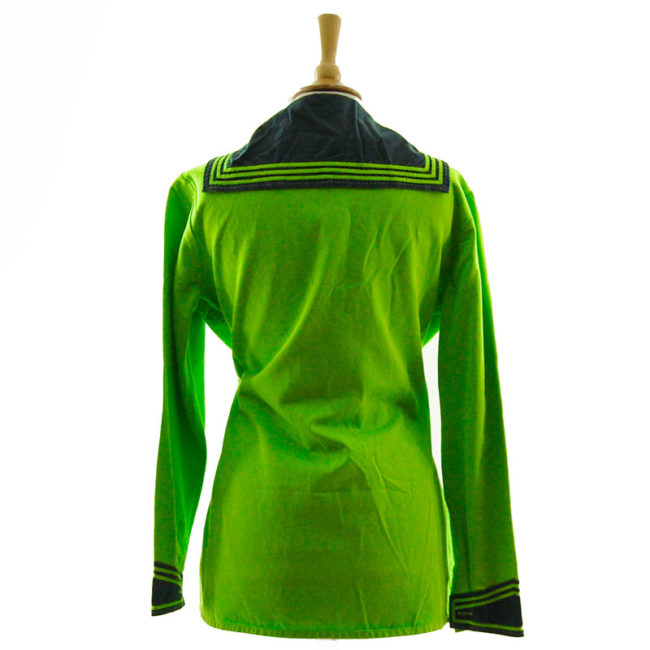 back of Neon Green Bib Sailor Top