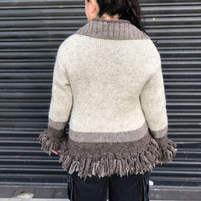 back of Kyber Outerwear Womens Cardigan