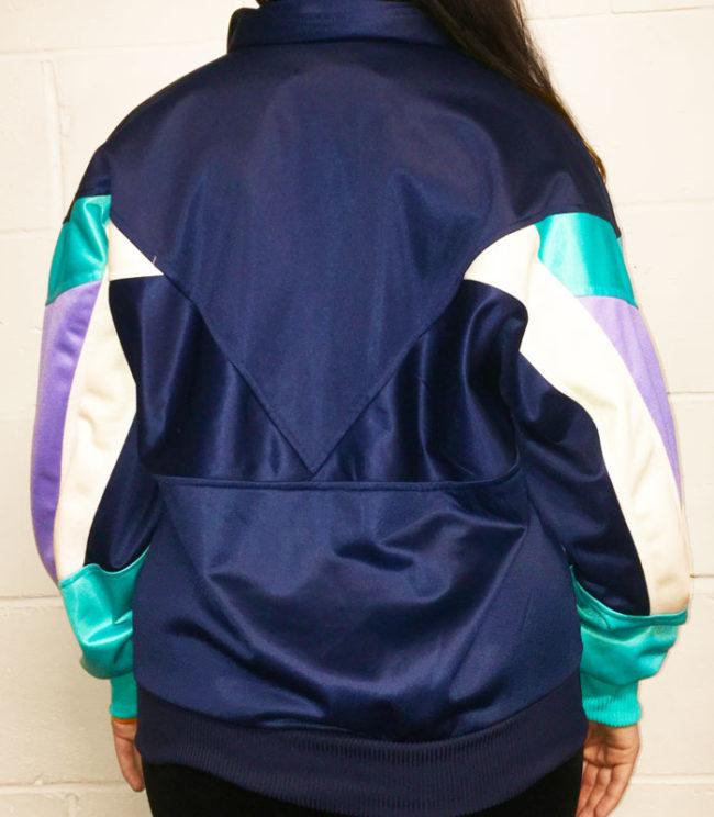 back of Leopard Block Colour Sports Jacket