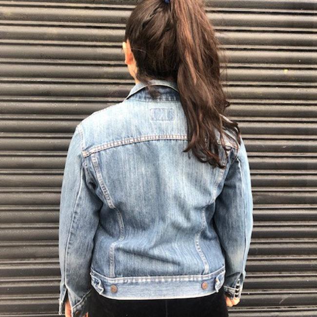 back of Levis Mid Faded Denim Jacket