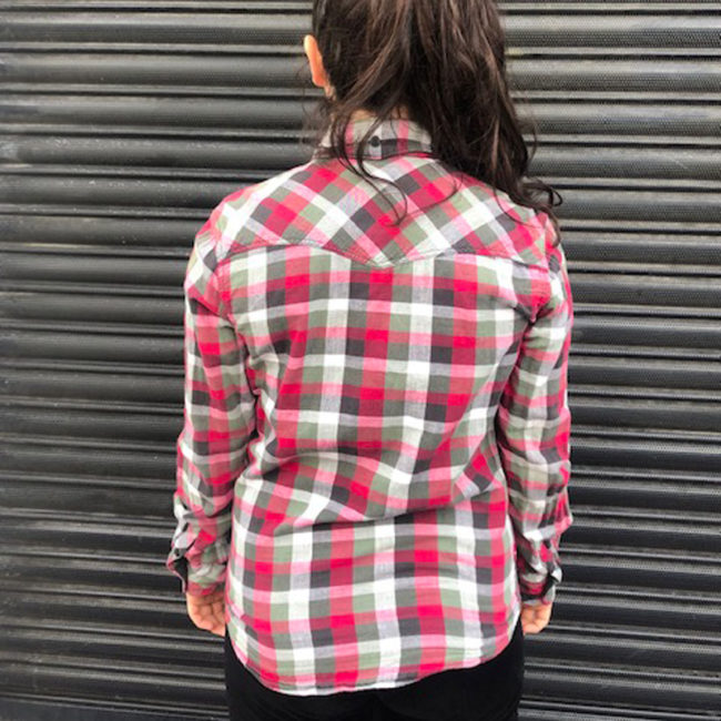 back of Levis Pink And Grey Shirt