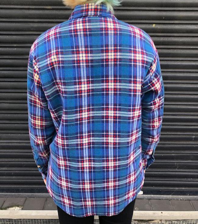 back of Northwest Territory Blue Checkered Shirt