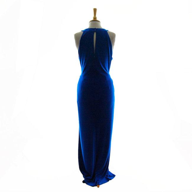 Back of Ossie Clark Blue Evening Dress