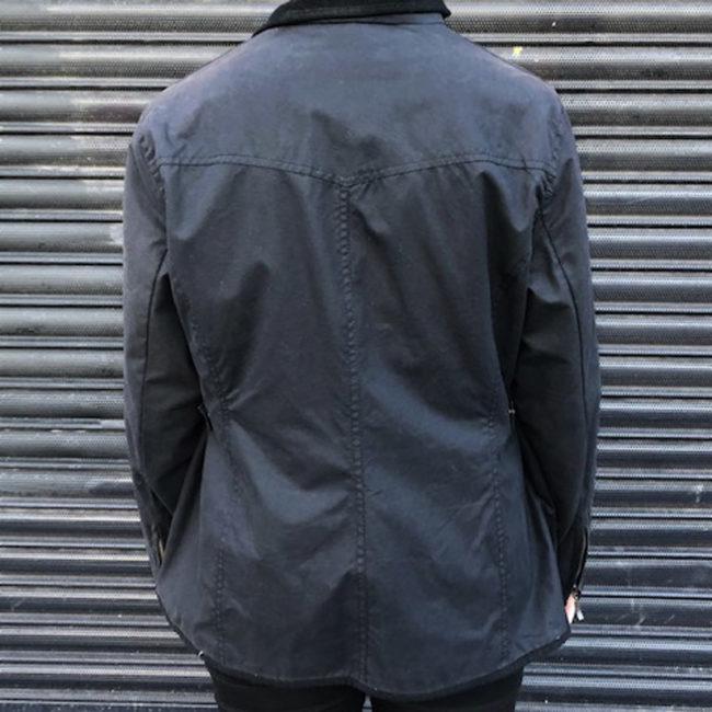 back of Womens Black Barbour Jacket