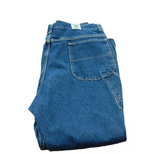 back of s Wide Leg Carpenter Jeans