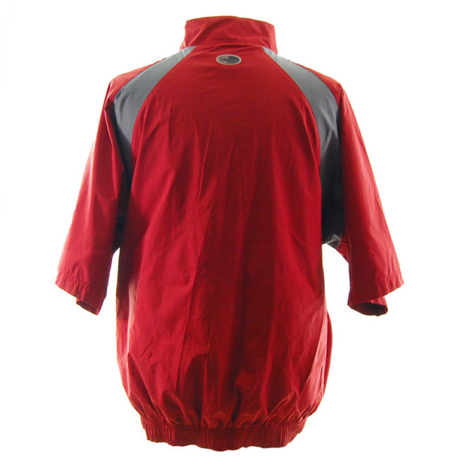 back of Vintage Adidas Red Windbreaker