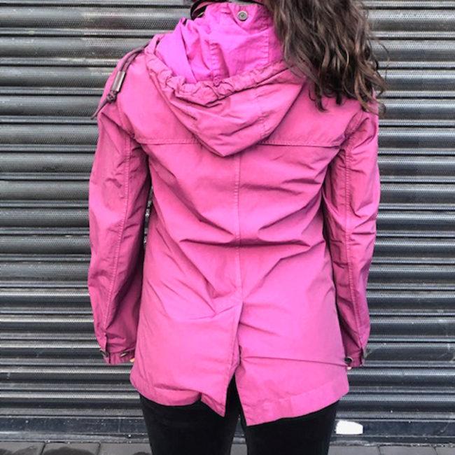 back Vintage Burberry Waterproof Purple Jacket