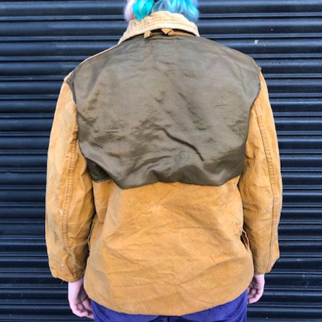 back of Vintage Canvas Hunting Jacket