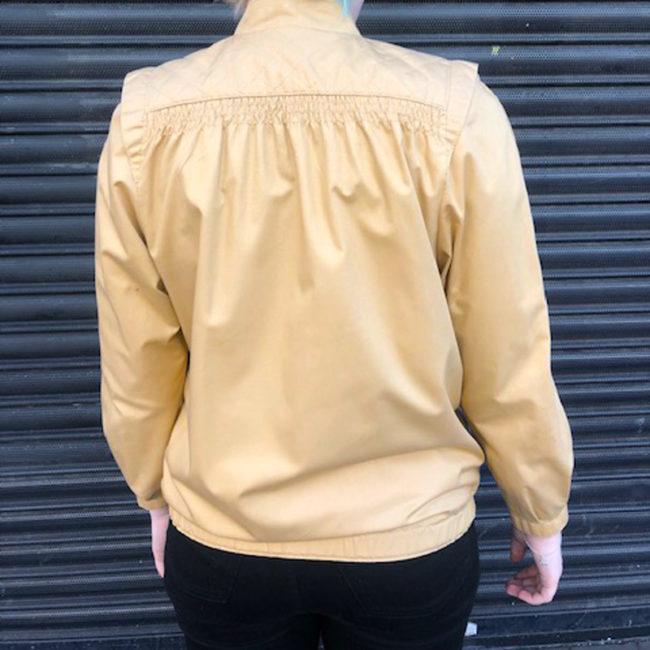 back of Womens Gold Cream Coloured Jacket