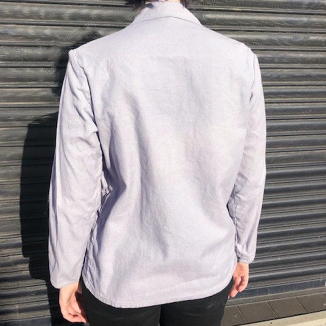 back of Womens Grey Cotton Shirt