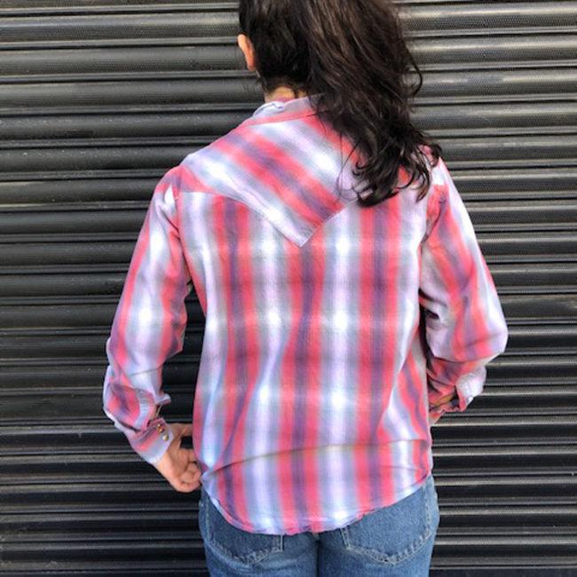 back of Wrangler Cowboy Western Shirt