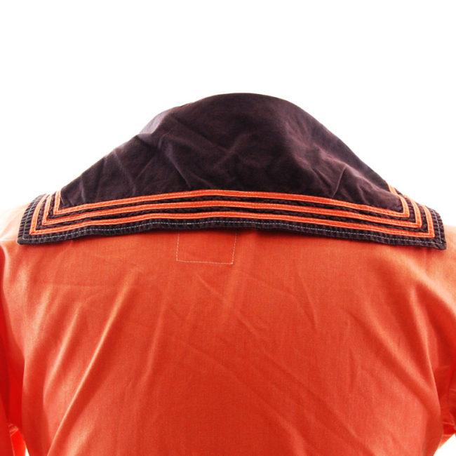 bib of Bright Orange Bib Sailor Top