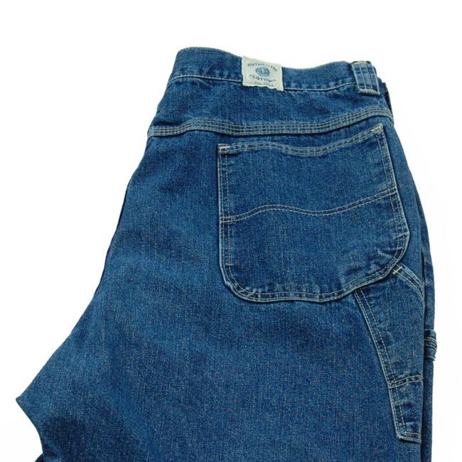 close up back of back of Wide Leg Carpenter Jeans