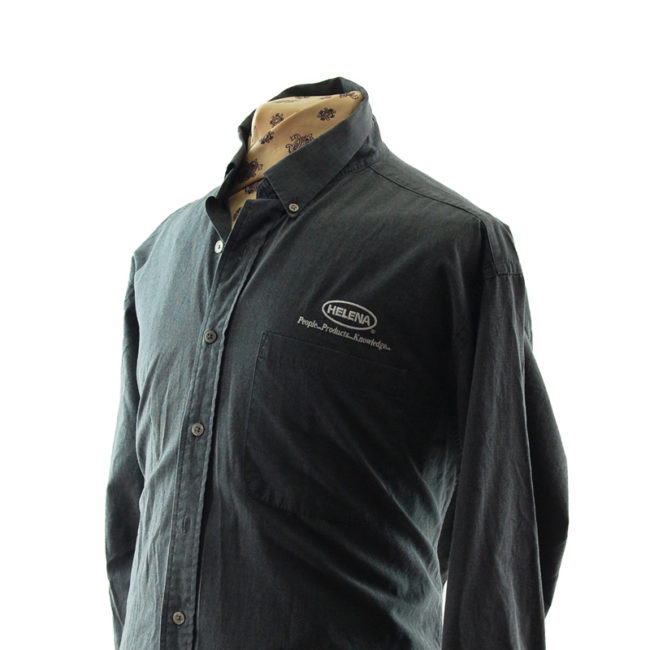 close side of Grey Dunbrooke Work Shirt