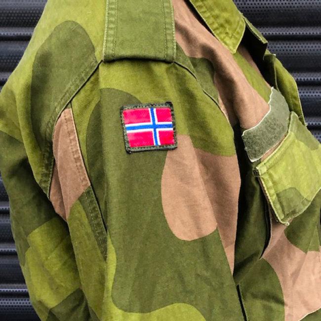 close side of Norwegian Woodland Camouflage Jacket