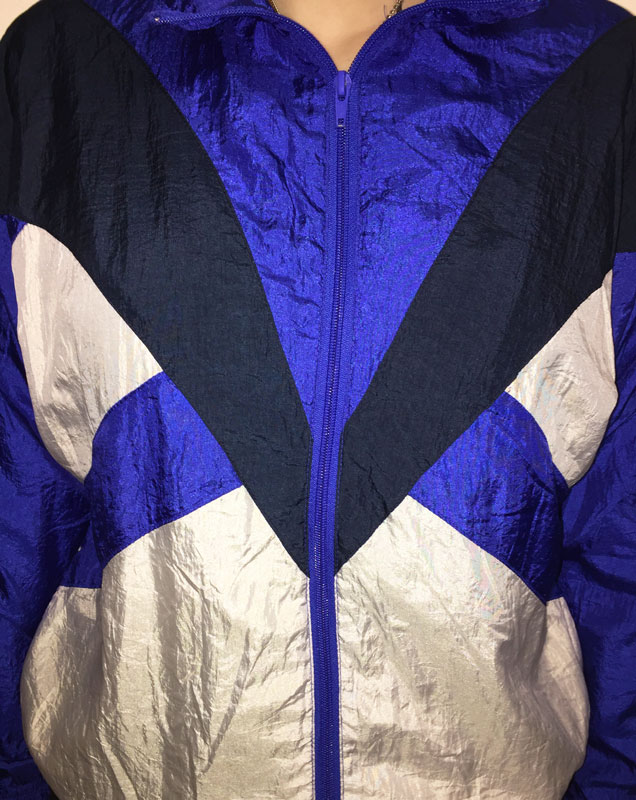close up of 90s Sports Wear Jacket