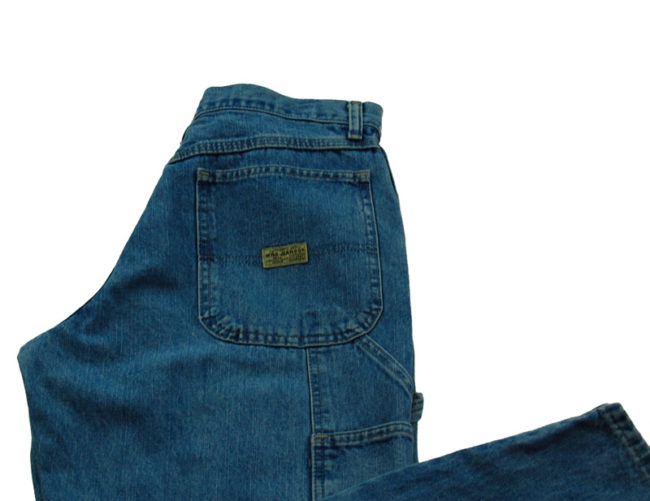close up of label of WRG Straight Leg Carpenter Jeans