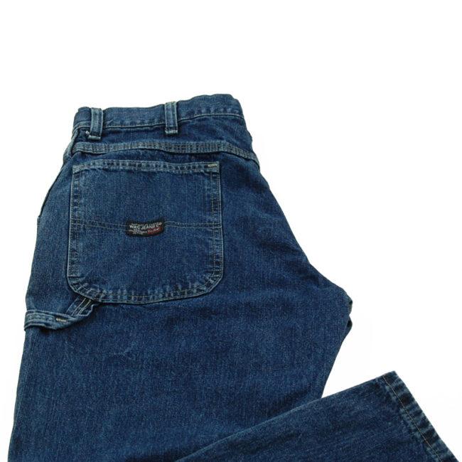close up of Blue WRG Carpenter Jeans