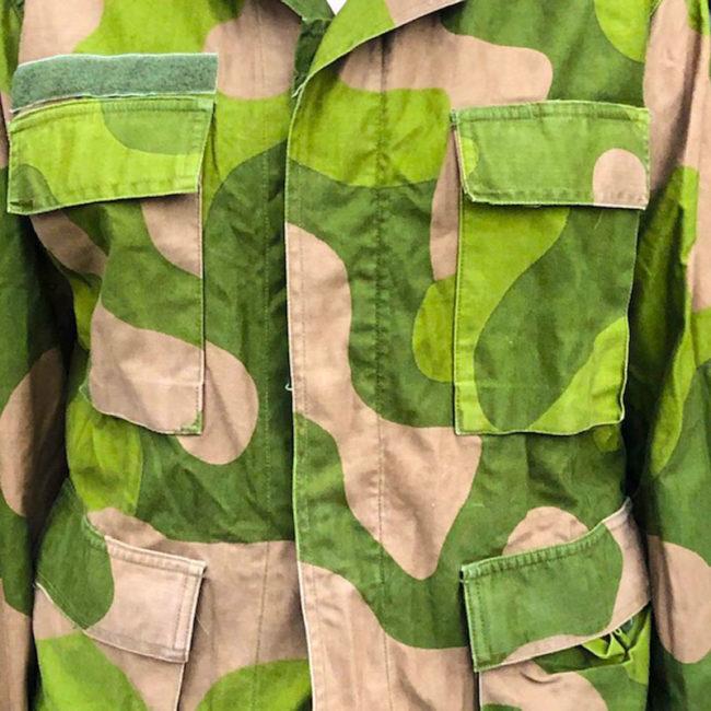 close up of Norwegian Woodland Camouflage Jacket