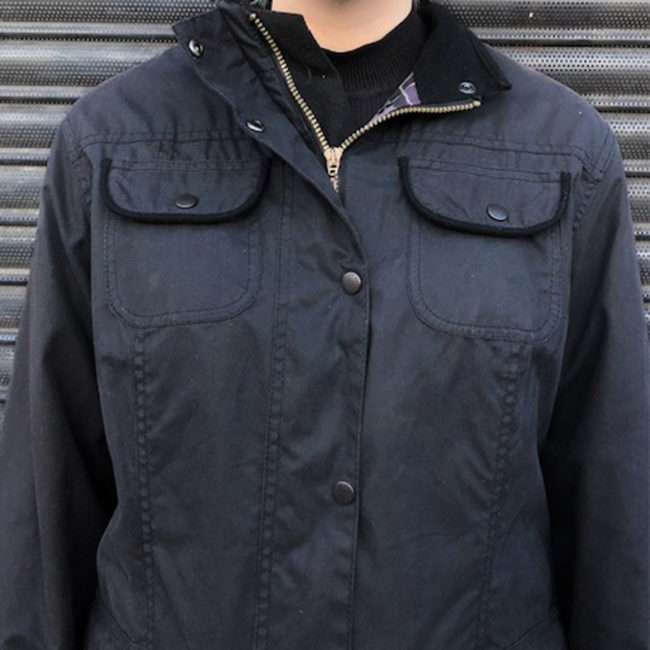 close up of Real Barbour Winter Jacket