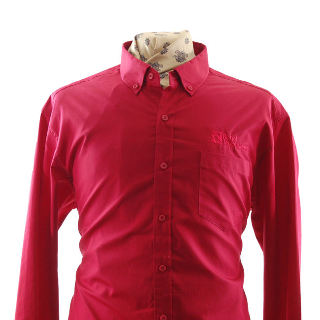 close up of Red Royal Technologies Work Shirt