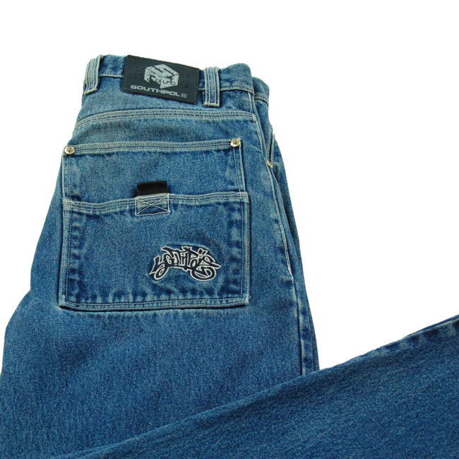 close up of Southpole Loose Fit Carpenter Jeans