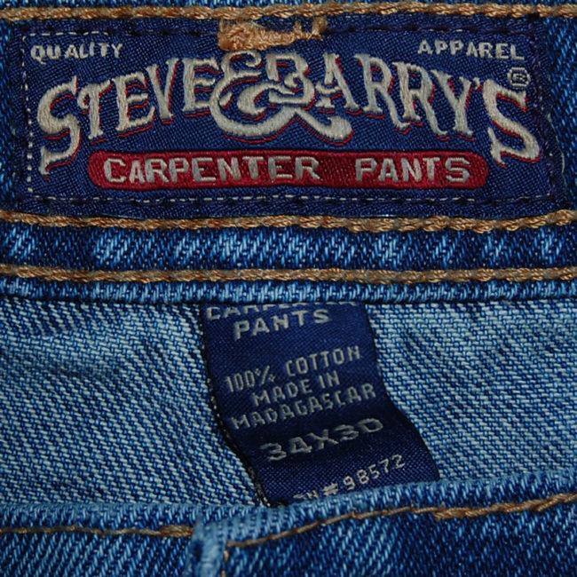 label Steve And Barry Carpenter Pants