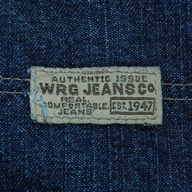 label of WRG Straight Leg Carpenter Jeans