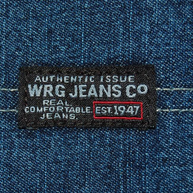 label of Blue WRG Carpenter Jeans