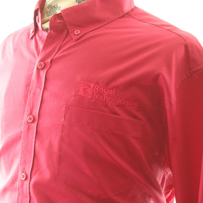 label of Red Royal Technologies Work Shirt
