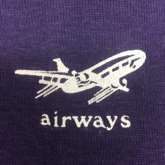 logo Navy Blue Airways Tee Shirt